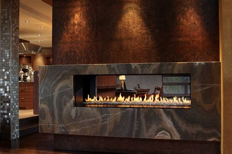 Chic linear fireplace ideas ? modern fireplaces with great