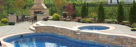 Patio And Pool Hardscapes by Bluestone Pool Deck With Fireplace