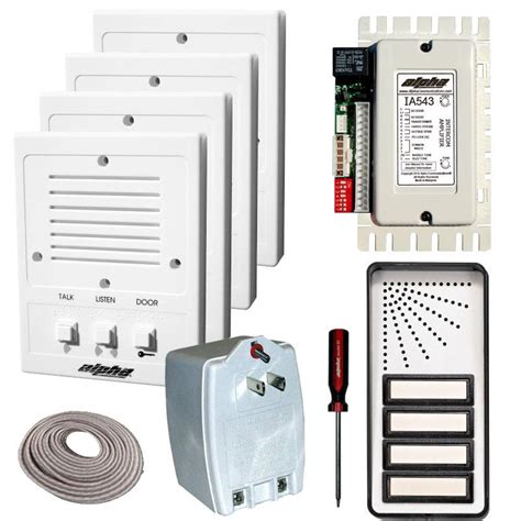 house intercom system wired alpha communications audio only intercom