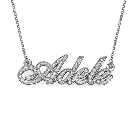 all 14k white gold personalized necklace