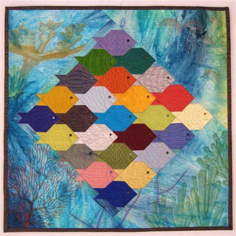 Patchwork Fish Pattern - 17 best images about tessellation quilts on