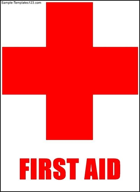 first aid sign template sle templates