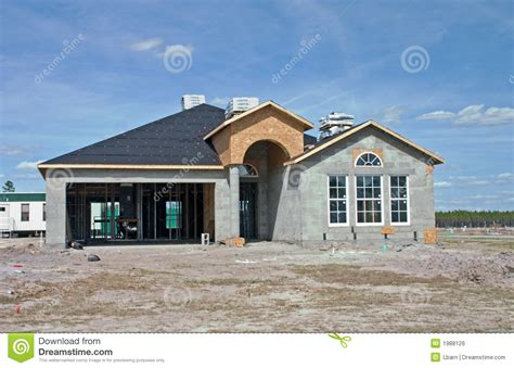 how to build a concrete block house new concrete block home construction stock photo image