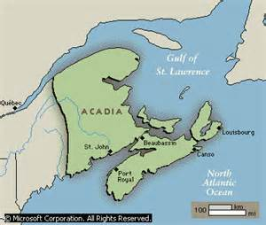 acadia canada map l acadie to la louisiane part i arsonneau une