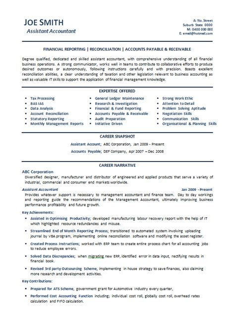 sle financial accountant resume australia 28 images 100 accounts assistant resume sle