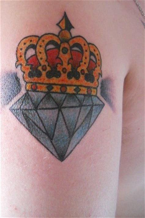 tattoo diamond and crown blue diamond and yellow crown tattoo tattooimages biz