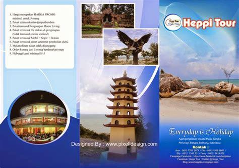 desain brosur pariwisata contoh desain brosur iklan travel agen wisata paling