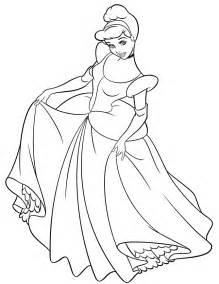 Disney Princess Coloring Pages Ariel In A Dress L