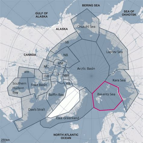 maps globe specialist distributor barents sea polar status and sea declines