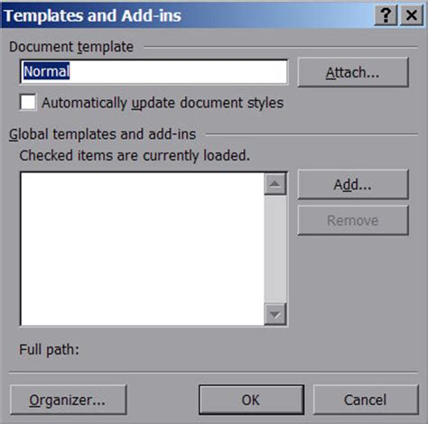 change word default template word default template