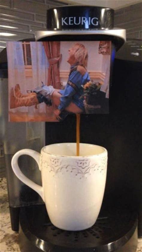 Customized coffee maker inspired by the Dumb and Dumber bathroom scene.   RealFunny