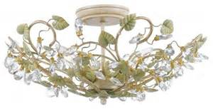 shabby chic ceiling lights crystorama 3 light semi flush 4840 ct shabby chic style