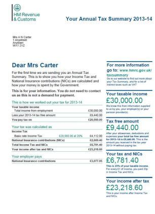 tax statements showing 22% goes on benefits to be sent to