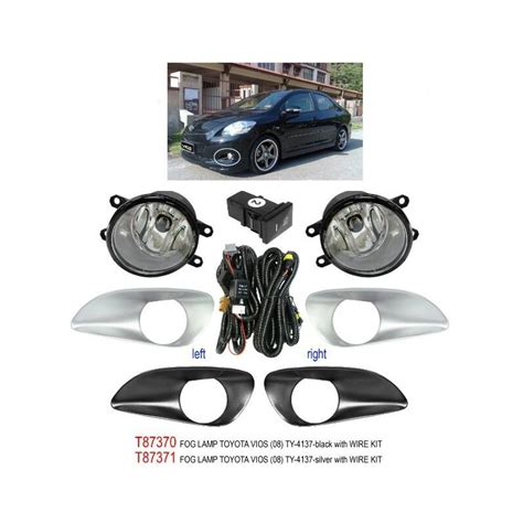 buy toyota vios 2007 trio oem fog l spot light black silver t87370