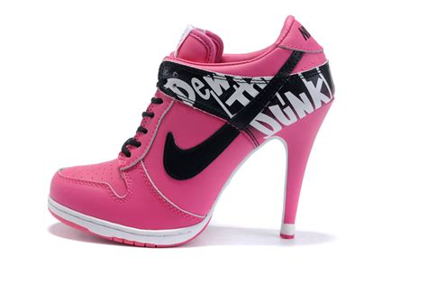 nike high heeled sneakers nike dunk high heels leila d