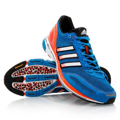 adidas running shoes adidas adizero adios 2 mens running shoes blue orange