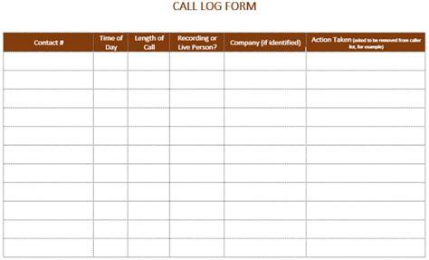 Printable Phone Call Log Template Workouts Log Templates Templates Printable Free Free Logs Collection Call Template