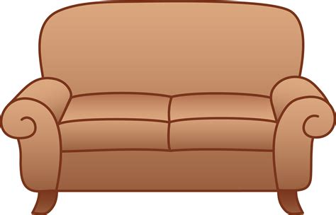 cartoon sofa bed beige living room sofa free clip art