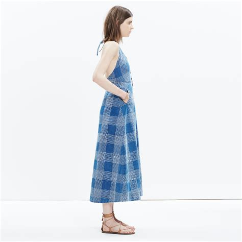 Ribbone Maxy Dress Jumbo Lacoste lyst madewell rivet thread japanese denim maxi dress in blue