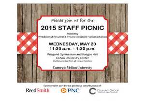 you re invited staff picnic is may 20 the piper carnegie mellon