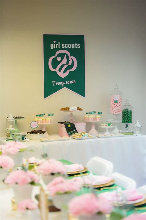 themes for girl scout kara s party ideas glam girl scout mother daughter