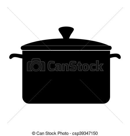 olla de cocina olla vector cocina cacerola icono cocina silueta