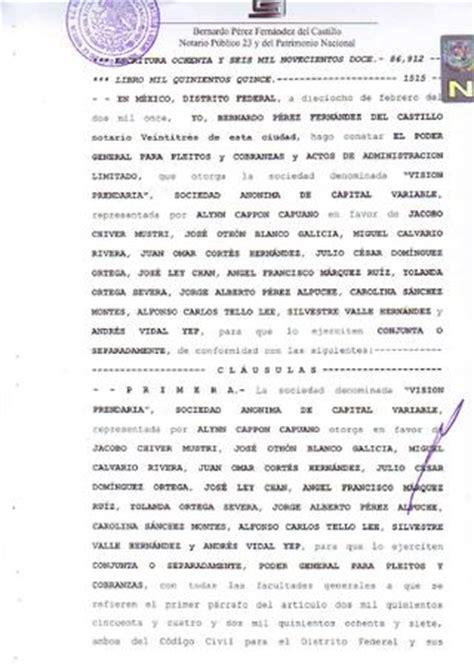 que es una carta poder notarial para pleitos y cobranzas poder notarial vp by punto x punto revista issuu