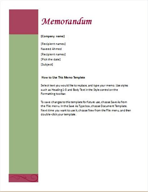 memorandum template word 24 free editable memo templates for ms word word excel