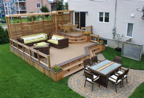 mobile home deck designs back front ideas