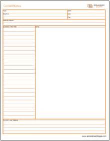 note template cornell notes templates 3 options spreadsheetshoppe