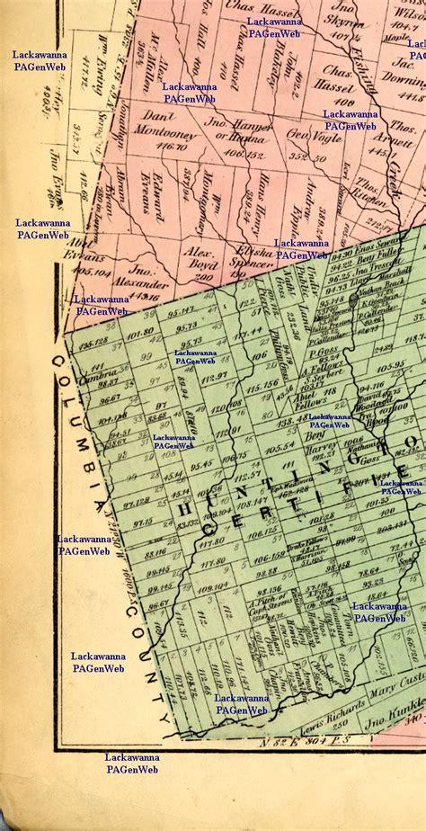 luzerne county section 8 1873 luzerne county maps