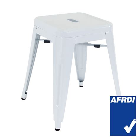 Small White Stool Furniture by Small Replica Tolix Stool In Matte White Caf 233 Furniture