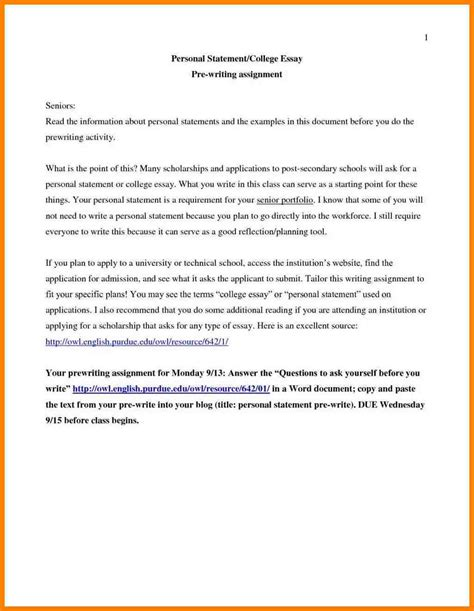 College Application Exle Essay by 5 Personal Essay For College Application Sle Address Exle