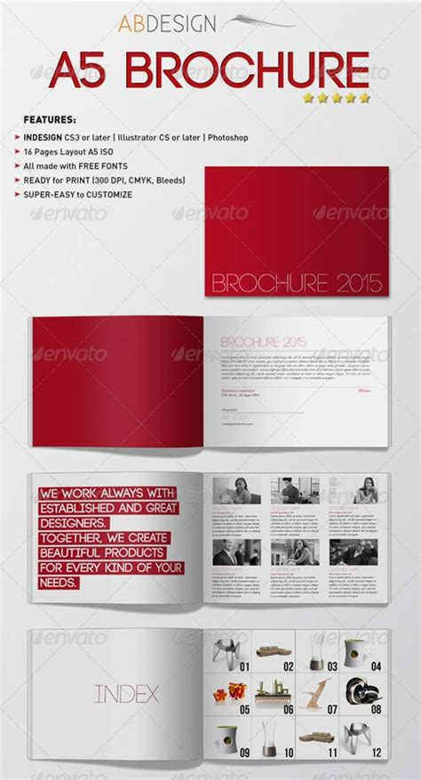 a5 brochure template graphicriver a5 brochure