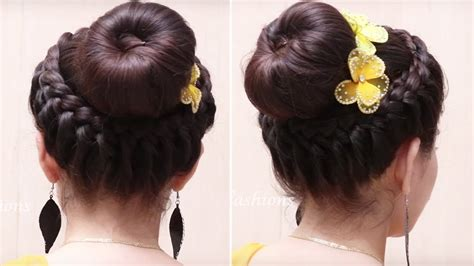 easy hairstyles for dances classic donut bun hairstyles quick and easy hairstyles