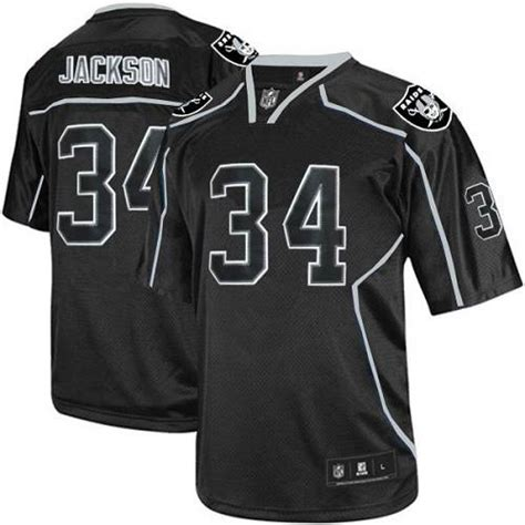 throwback black bo jackson 34 jersey dignity p 862 lights out black bo jackson s jersey authentic 34