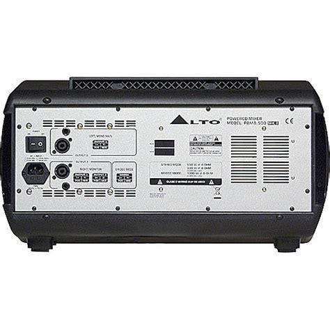 Mixer Power Alto alto pbm8 500 8 channel stereo powered mixer used free