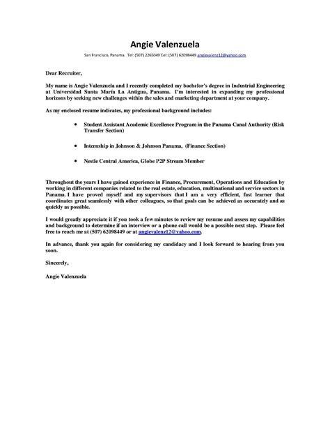 ejemplo de cover letter calam 233 o practica industrial iii ejemplo de cover letter