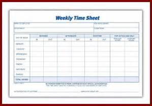 doc 507390 weekly time sheet free printable