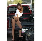 X Tra Lift Truck With A HOTTIE Torching Bike  Photo