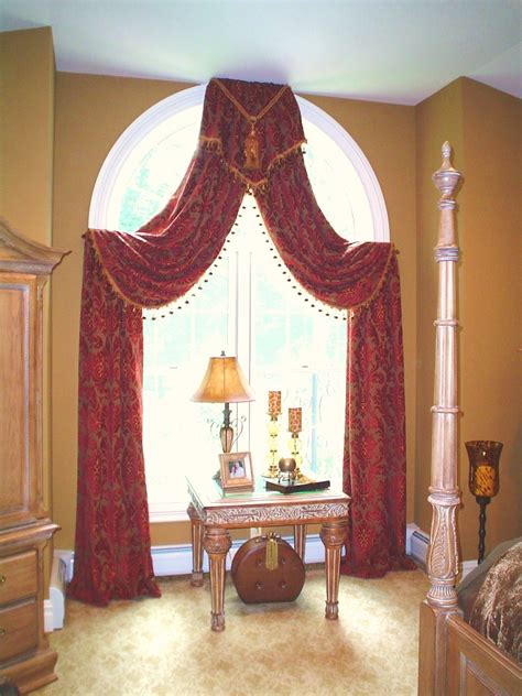 arched window treatments curtains arched window treatment window treatments drama pinterest