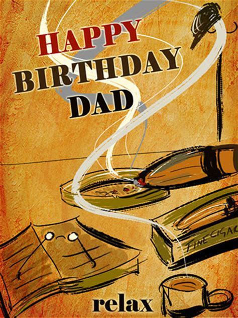 Happy Birthday Dad With A Fine Cigar! Free For Mom & Dad