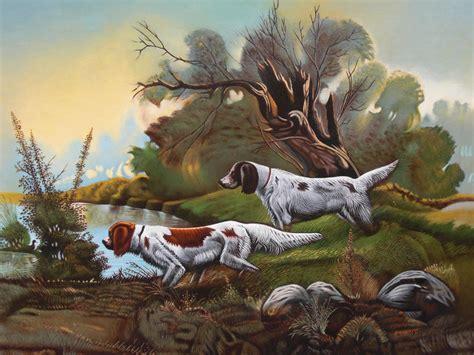 cuadros de caza cuadros de perros de caza imagui