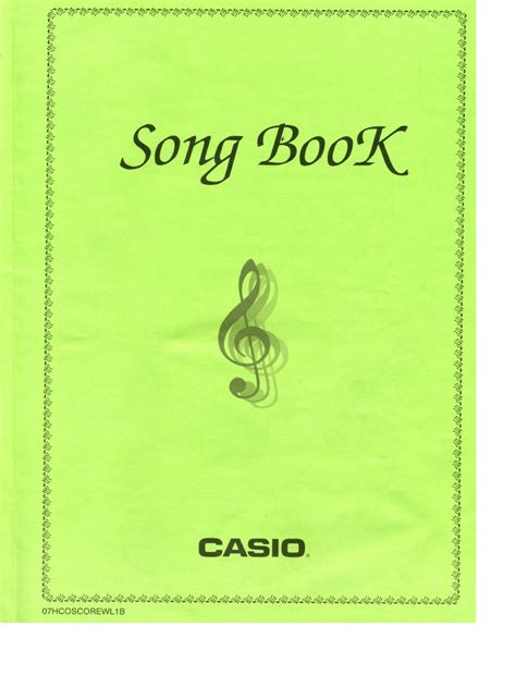 picture book song casio song book pdf