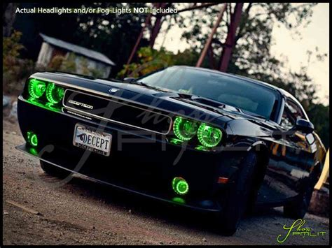 green light auto parts oracle 08 14 dodge challenger w o pro plasma halo rings