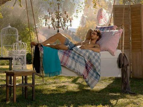 summer backyard decorating ideas hanging beds adding summer decorating thrill to backyard