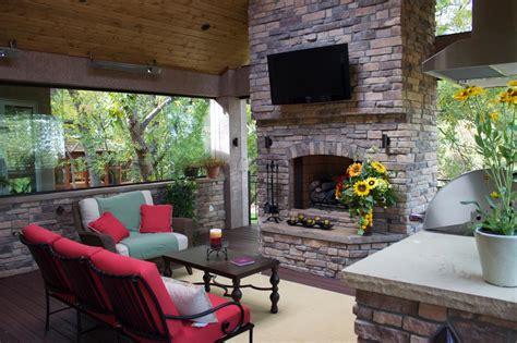 treetop deck with outdoor fireplace photos diy