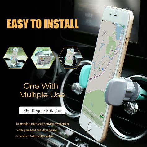 360 Degrees Mobile Car Holder With Iphone 6 6 7 7 Original universal car phone holder 360 degree rotation air vent