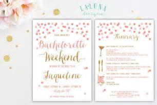 bachelorette party invitation with itinerary bachelorette