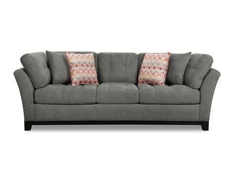 casual sofa gray upholstered 3 piece casual contemporary sectional